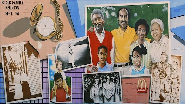 G. Byron Peck's classic mural, the Black Family Reunion, is expected to be obscured by new development within the next year.