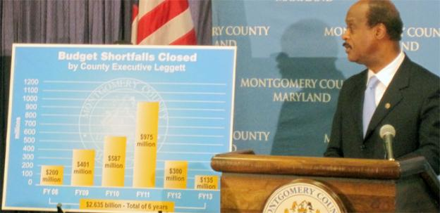 Montgomery County Executive Isiah Leggett unveiled his budget plan on Thursday.