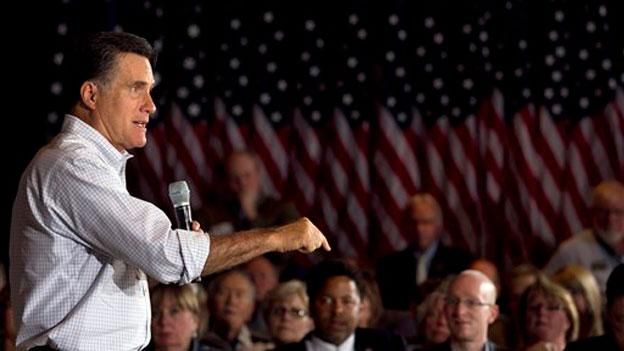 Mitt Romney makes a campaign stop in Maryland in March.