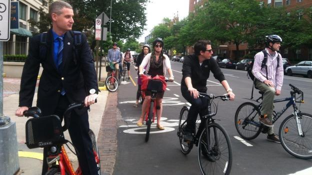Riders hoping to see the M Street cycle track work begin so may have to wait.