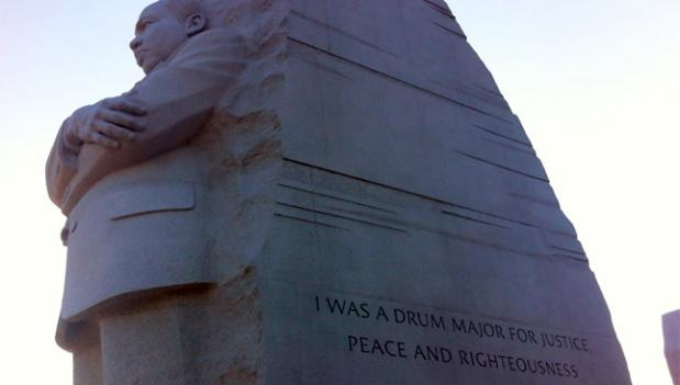 """The quote on the side of the """"Stone of Hope"""" will be changed this September."""