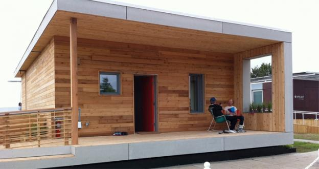 Empowerhouse, built by students at Parson's The New School For Design, Milano School of International Affairs, Management and Urban Policy at The New School, and Stevens Institute of Technology, is headed to Deanwood after the solar decathlon.