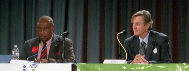 Mayor Bill Euille and Independent challenger Andrew Macdonald traded verbal jabs at a candidates forum.