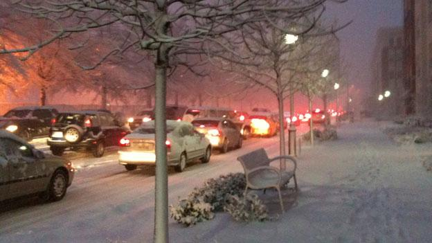Winter weather is expected to affect the evening commute today.