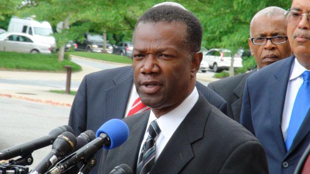 Former Prince George's County Executive Jack Johnson apologizes after he pleaded guilty in May. He was sentenced to 87 months on Tuesday.