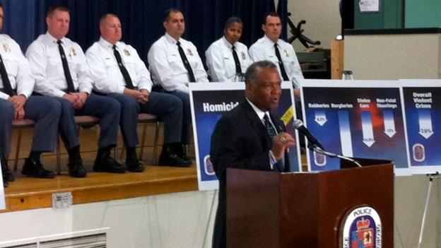 Prince George's County executive Rushern Baker said Wednesday that he believes the decline in the crime rate is sustainable.