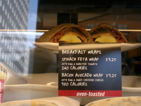 A Starbucks in New York already lists calories on menu items.