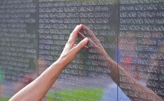 The names of six veterans who died of injuries after the war have been added to the wall, bringing the total number of names on the wall to 58,267.