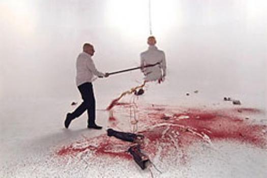 One of Gabriel de la Mora's visceral videos at Conner Contemporary Art.