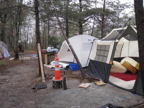 Some of the people living in this homeless encampment near Dale Boulevard say they've been here for years. But VDOT says traffic safety concerns mean the camps have to clear out.