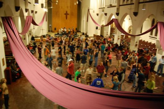 A square dance in St. Stephen's church.