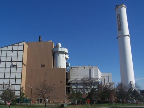 Maryland will soon provide clean energy incentives for waste-to-energy plants that incinerate trash to produce electricity, like this one operating in Baltimore.