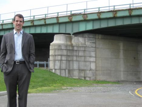 James Corless of Transportation For America says this Virginia Bridge is among many in the region in need of serious repairs.
