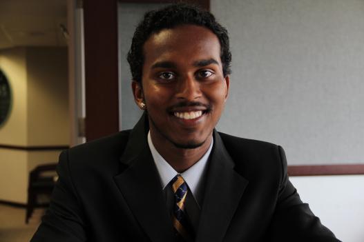 Lalaram Guyadin is a new graduate of Cardozo Senior High School in D.C.