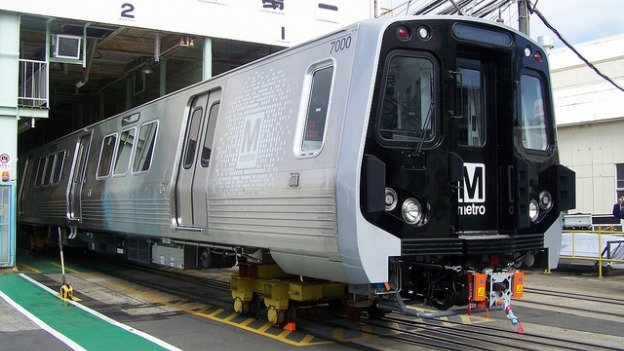 The 7000-series rail cars are expected to go into service in 2014.
