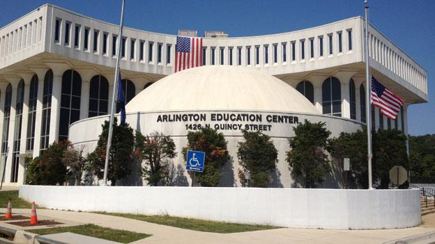 The exterior of the Arlington County Public Schools planetarium, which will reopen with $400,000 of renovations funded by donations next week.