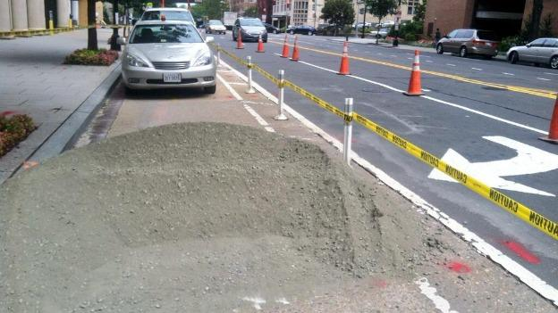 Work on the 15th Street bike lane will continue for the next three weeks.