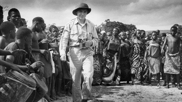 Eliot Elisofon in Yaka village, Congo, in 1951.