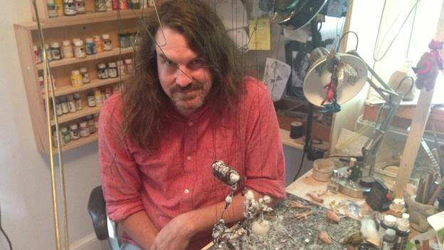 Puppetmaker Don Becker builds marionettes in his Bethesda studio.