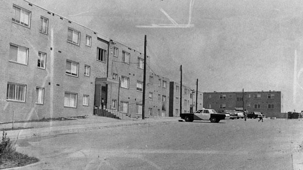The Valley Green development in Southeast D.C. before it was torn down in the mid 1990s to make way for the existing Wheeler Creek development.