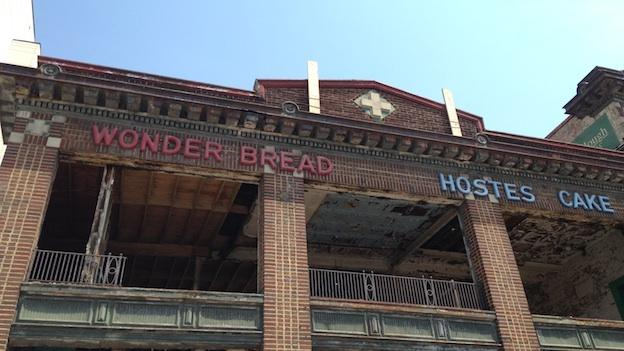 The front of the Wonder Bread building in Washington, D.C.