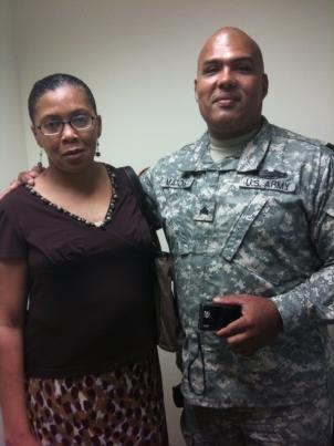Josepha Matos (left) found her husband Oscar's (right) deployments very difficult because she doesn't speak English.