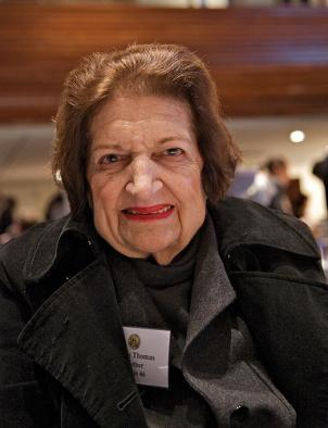 Helen Thomas at an Annual book fair and authors' night at the National Press Club in November of 2009.