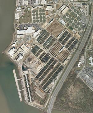 The Blue Plains Advanced Wastewater Treatment Plant is the largest plant in the world. It has the capacity to treat 370 million gallons of sewage a day.